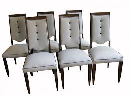 french art deco dining chairs 1930s set of 6 for sale at pamono art deco dining 6