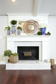 Should You Paint Brick Fireplace White My How To Your. Ing Paint Colors Red  Brick Fireplace Painted Wood Mantle Mantel. Diy Paint Brick Fireplace White  Red ...