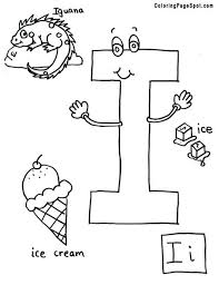Small Picture Letter I Coloring Pages All Coloring Pages
