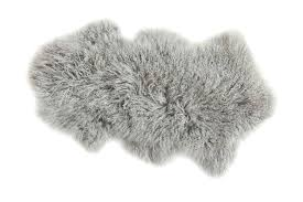 grey lamb fur rug gray small faux