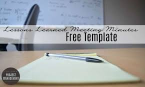 Free Template: Lessons Learned Meeting Minutes • Girl's Guide To ...