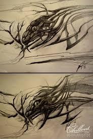 Art тату эскиз ящерица Chillout Tattoo Workshop