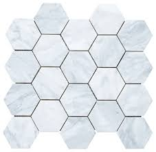 12 25 x10 75 carrara white hexagon mosaic tile honed
