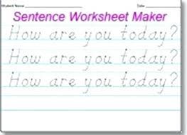 Free Handwriting Worksheet Maker Kindergarten Handwriting Worksheet