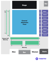 The Bomb Factory Seating Chart Perfume On April 7 At 8 P M