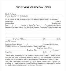 Employment Verification Templates Employment Verification Letter 14 Download Free Documents
