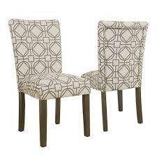 parsons chair grey lattice set of 2