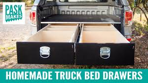 Homemade Truck Bed Drawers - YouTube