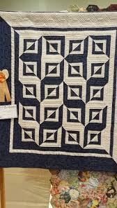 Simple design, fabulously done. With only one block and two colors ... & Simple design, fabulously done. With only one block and two colors, you get  a lot of impact! Photo taken at Space Coast Quilt Show, Titusville,. Adamdwight.com