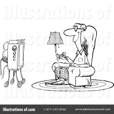 watching tv clipart black and white. royalty-free (rf) watching tv clipart illustration #438034 by toonaday black and white l