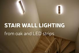 Image Lighting Ideas Picture Of Diy Stair Wall Lighting From Oak And Led Strips Instructables Diy Stair Wall Lighting From Oak And Led Strips 10 Steps with