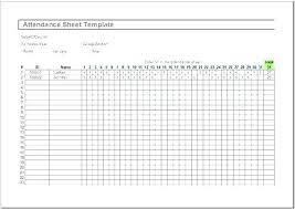 Weekly Attendance Register Template Free Attendance Sheet Template Excel Preschool Daily