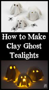How to Make a Clay Ghost Tealight
