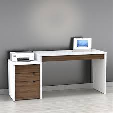 White modern office Design Image Of White Modern Desk Paint White Modern Desk At Very Affordable Price Pochiwinebardecom