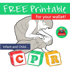 Free Printable Cpr Chart Free Wallet Printable For Remembering How To Administer