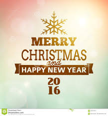 merry christmas and happy new year poster stock vector merry christmas and happy new year 2016 poster