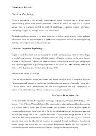 cognitive psychology memory and forgetting 6 literature review cognitive psychology