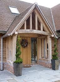 barn front doorBorder Oak Porch on a new build barn home  exteriors  Pinterest