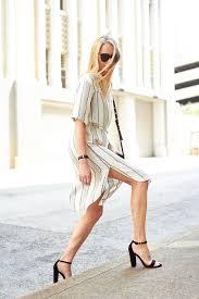 Stripe Shirtdress Fashion Jackson