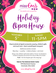 christmas open house flyer sneak peek miss ems holiday open house nov 5 cincy chic