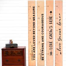 Personalized Wooden Growth Chart Personalized Wooden Growth Charts