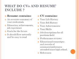 What To Include In A Resume Amazing How To Design An Effective CV Ppt Video Online Download