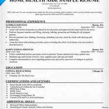 Sample Resume Of Health Care Aide Resumes Home Health Aide Resume Care Sample Example Skills Samples 24