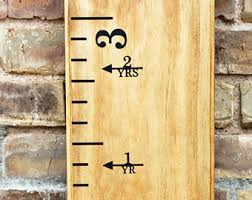 How To Mark A Wooden Growth Chart Vinyl Height Marker Etsy