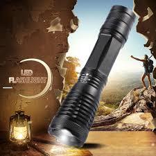 Husuyuhu Sisi T6 Chiến Thuật Đèn Pin 10000Lumens Đèn Pin Led Phóng To LED +  18650 Pin + Sạc + Tặng Bao Da + giá Hộp|Đèn Pin LED