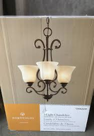 new portfolio linkhorn 3 ligh chandelier bronze finish for in medina oh offerup
