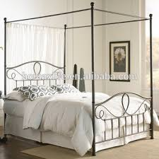 French Style Iron Canopy Metal Bed - Buy Wrought Iron Canopy Bed,Queen Iron Canopy Bed,Antique Canopy Bed Product on Alibaba.com
