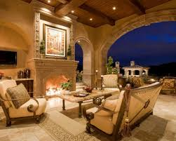luxury italian furniture brands. inspiration for a huge mediterranean tile patio remodel in phoenix with fire pit and luxury italian furniture brands d
