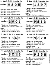 Printable Place Value Chart Worksheet Fun And Printable
