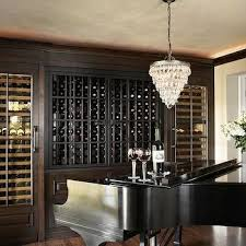 view full size dining room opens to wine room filled with a pottery barn clarissa glass drop small round chandelier