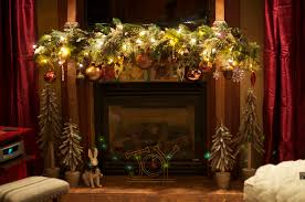 Mantel Christmas Decor With Lighting