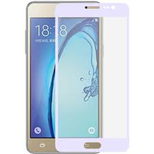 samsung on5. samsung galaxy on5 - full edge colored tempered glass screen protector, white