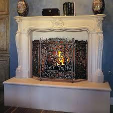 louis xv fireplace mantel