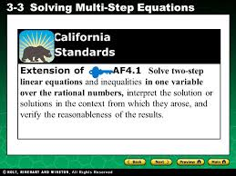 extension of af4 1 solve two step linear equations and inequalities in one variable