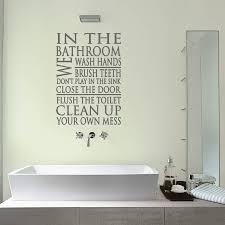 bathroom rules word new wall sticker bathroom