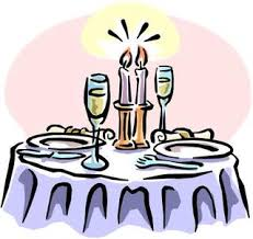 Image result for candlelight dinner CARTOON images