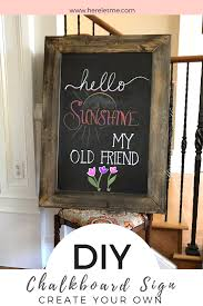 create an adorable diy chalkboard sign with these handy tips