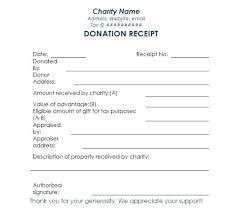 charitable contribution receipt letter donation receipt letter template free printable invoice