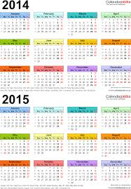 two year calender two year calendars for 2014 2015 uk for excel