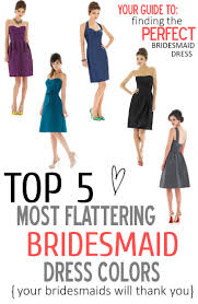 The Perfect Palette Top 5 Most Flattering Bridesmaid Dress Colors