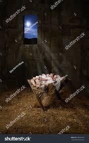 Manger Light Baby Jesus Resting On Manger Light Stock Photo Edit Now