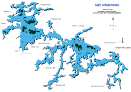 White Lake Ontario Depth Chart Map Of Lake Windermere