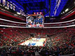 Lca Pistons Seating Chart Little Caesars Arena Section 102 Home Of Detroit Pistons
