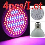 60 <b>LED Grow Light E27</b> Ac85-265V Full Spectrum Indoor: Amazon ...