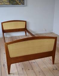 Danish Teak and Cane Bed by Sidelmann Jacobsen, 1960s For Sale at ...