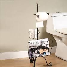 Toilet Paper Holder With Magazine Rack Toilet Paper Holder With Magazine Rack Freestanding Combination 39